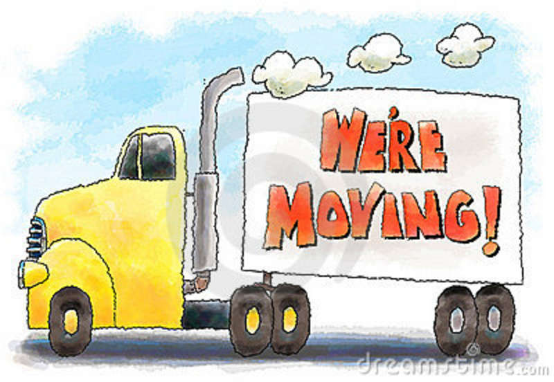 moving truck clipart image colorful cartoon moving van or truck rh kindermusikwithfriends com moving van clipart free moving van clipart images
